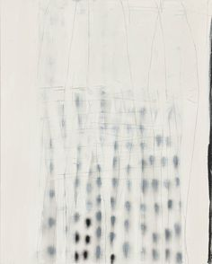 Terri Brooks, Veiled Dots, 2013. Oil, enamel and pencil on canvas, 153 x 122 cm.