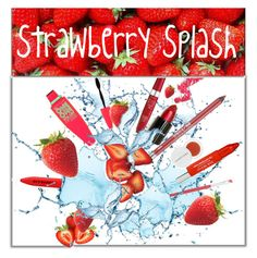 """""""Strawberry Splash"""" by pattykake ❤ liked on Polyvore featuring beauty, New Look, Burberry, Urban Decay, Trish McEvoy, Maybelline, Lime Crime, Bourjois, Herbivore and Disney"""