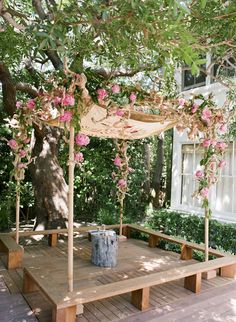 this is the feel not the look of the arbour,fabric top lots of flowers front and back