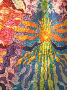 "Quilt Market 2008 Exhibit- ""Hybrid"" (detail) by Rachel Wetzler; St. Charles, Illinois by Etsy Labs, via Flickr"