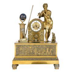 1stdibs.com | French Empire Gilt-Bronze Clock