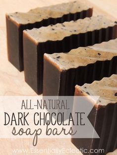 DIY All-Natural Dark Chocolate Soap Bars - A Soap Tutorial! This natural . - DIY All-Natural Dark Chocolate Soap Bars – A Soap Tutorial! These natural dark chocolate soap bars - Lye Soap, Bath Soap, Soap Molds, Castile Soap, Glycerin Soap, Soap Making Recipes, Homemade Soap Recipes, Homemade Scrub, Soap Making Supplies