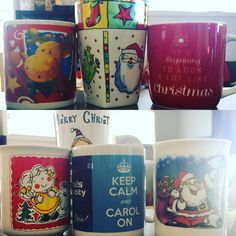 """""""It's beginning to look a lot like Christmas"""" especially when your Christmas mug collection comes out! Christmas Mugs, That Look, In This Moment, Drink, Tableware, Collection, Christmas Mug Rugs, Beverage, Dinnerware"""