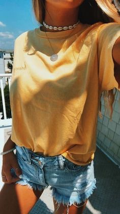 43 Top Summer Outfits — Green and Yellow Make You Cool; summer outfits 43 Top Summer Outfits — Green and Yellow Make You Cool; Teenager Mode, Looks Teen, Looks Style, My Style, Style Blog, Teen Style, Vetement Fashion, School Looks, Trendy Swimwear