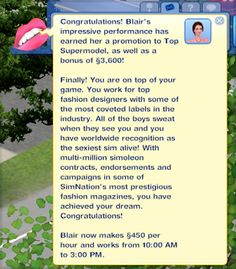Mod The Sims - The Modeling Career