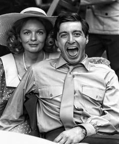 Diane Keaton and Al Pacino on set for The Godfather, 1972