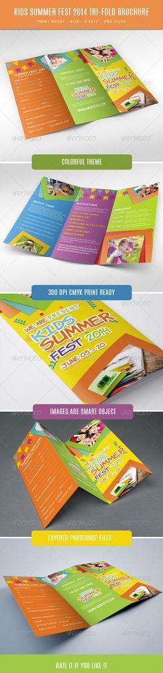 Kids summer camp fest 2014 trifold brochure - Corporate Flyers