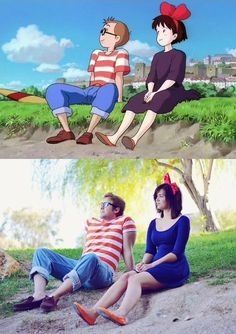 Me and my lady took a kiki's delivery service picture i think we nailed it