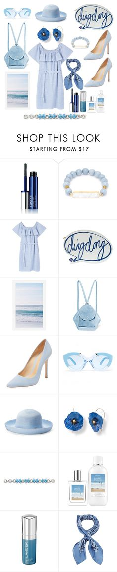 """""""Ding dong summer"""" by dudettelucy ❤ liked on Polyvore featuring Clinique, Elise M., MANGO, Disaster Designs, Pottery Barn, MANU Atelier, Schutz, Karen Walker, Betmar and Kevin Jewelers"""