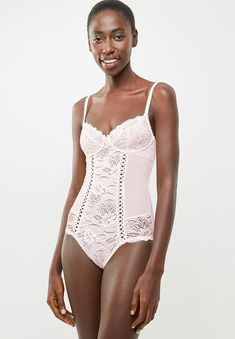 Angie bodysuit - light pink DORINA Sleepwear | Superbalist.com Hip Bones, Lingerie Sleepwear, Lace Detail, Tights, Bodysuit, One Piece, Swimwear, Pink, Women