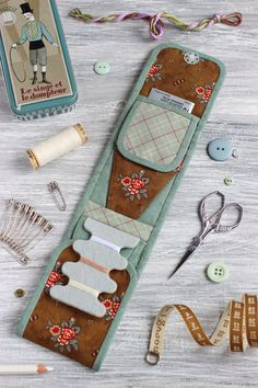 Sewing pattern, Sewing tutorial, Travel sewing kit, Sewing organizer pattern, Sewing tools case, Sewing tools case, DIY project