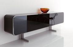 Black Glass Modern Sideboards Furniture