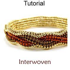 Beaded Herringbone Bracelet Beading Pattern Tutorial | Simple Bead Patterns