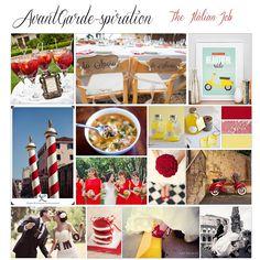 AvantGarde-spiration: The Italian Job { Red & Yellow } - Connecticut Wedding Stationery Designer, AvantGarde Design, CT   AvantGarde Design - Graphic Design & Print Company Barbara Caruso