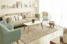 Living Room Bench, Ikea Living Room, Living Furniture, Pastel Living Room, Sofa Design, Small Flat Decor, Home And Living, Decoration, Home Decor