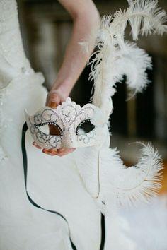 Máscara para noiva. Casamento tema de carnaval
