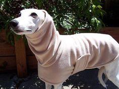 Whippet English Style Fleece Dog Coat Mocha