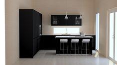 #blackkitchen #newhomes #keittiö #noblessa #loghouse #kitchenlayout