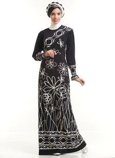 Gamis batik kasual-3