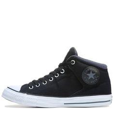 Converse Men's Chuck Taylor All Star High Street Shield Mid Sneakers  (Black/Sharkskin)