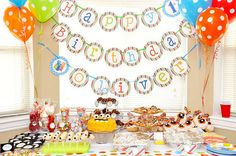 downloadable party pack $30.  Personalized items:  1. Banner-name & age  2. Toppers-name, age, picture  3. Select signs  4. Shirt design  5. Cake Topper  6. Invite  7. Thank you