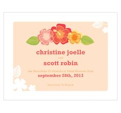 Tropical Bliss Save The Date Card - Weddings - Shop By Occasion Wedding Themes, Wedding Cards, Wedding Favors, Wedding Stationery, Wedding Invitations, Save The Date Cards, Tropical, Dating, Place Card Holders