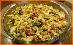 sertésparádé: Édesburgonyás-fetás kuszkusz Fried Rice, Feta, Fries, Ethnic Recipes, Stir Fry Rice
