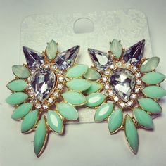 Gem earrings | HotOnTrend.com £8