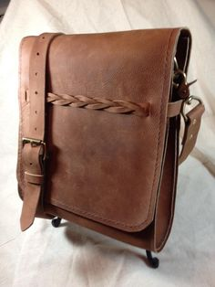Hand Crafted Leather Messenger Bag www.wellsleather.com