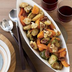 Maple-Ginger-Roasted Vegetables with Pecans Recipe - Melissa Rubel Jacobson | Food & Wine