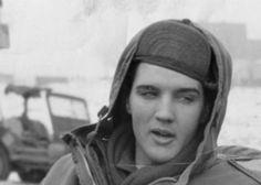 Elvis in the army in Germany , 1959 .