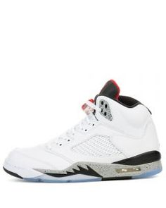 half off b58cf e1531 AIR JORDAN 5 RETRO WHITEUNIVERSITY RED-BLACK-MATTE SILVER Air Jordan 5