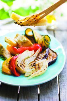 Mélange savoureux de légumes grillés avec : #aubergines, #courgettes, #poivrons rouges et jaunes #Picard