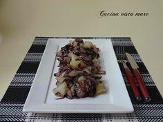 Radicchio e patate in padella: un semplice e delizioso contorno che sposa il gusto amarognolo del radicchio con quello neutro e delicato delle patate!