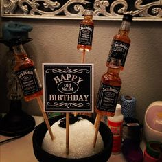 It is always difficult to find a gift for a man that has absolutely everything & completely hates it when you buy him a gift, even if it is. Jack Daniels Birthday, Man Bouquet, Jack Daniels Bottle, Whiskey Gifts, Absolutely Everything, 4th Birthday, Cute Gifts, Gift Baskets, Gifts For Him