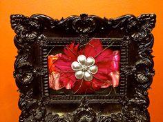FREE SHIPPING: Designer Couture Orange and Pink Feather Flower Brooch Embellished Garter. $29.99, via Etsy.