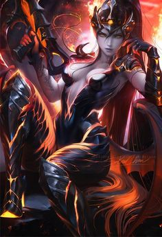 Destroyer WidowMaker poster sold by Sakimichan Art Shop. Shop more products from Sakimichan Art Shop on Storenvy, the home of independent small businesses all over the world. Heroes Of The Storm, Fantasy Women, Fantasy Girl, Fantasy Characters, Female Characters, King's Quest, Sakimichan Art, Overwatch Widowmaker, Overwatch Memes