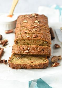 Healthy Zucchini Carrot Bread - No Eggs, No Dairy - The Conscious Plant Kitchen - TCPK Carrot Zucchini Bread, Vegan Zucchini Fritters, Carrot Bread Recipe, Zucchini Bread Recipes, Healthy Zucchini, Vegan Recipes, Vegan Desserts, Recipes With Coconut Cream, Coconut Cream Frosting