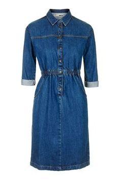 TOP SHOP MOTO Vintage Wash Denim Dress