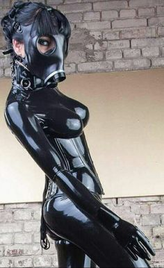 Latex Babe, Sexy Latex, Gas Mask Girl, Black Catsuit, Rubber Dress, Latex Suit, Latex Wear, Latex Costumes, Latex Hood