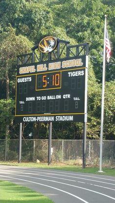 Chapel Hill Football By Major Display Scoreboards 800 260 1067