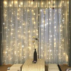 Fairy Light Window Curtain Icicle Lights, 9.8ft 300 LEDs, WARM WHITE (UPDATE SAFETY VERSION)