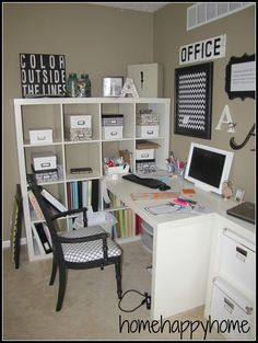 home happy home: Office clutter and a new gallery wall