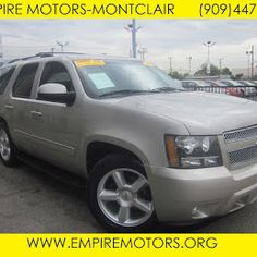 For sale 2009 Chevy Tahoe 4X4 LT at Empire Motors Montclair Ca. Loaded with 3rd seat , tow package, rear A/C and more.... Ready for the trip to the mountains this winter. Come check it out TODAY!!!! www.empiremotors.org 909 447 6777 We offer financing for ALL credit types. Visit our website and get Pre-APPROVED in minutes for loan offering LOW down and monthly payments.