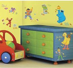 Sesame Street Wall Decals Toddler Kids Bedroom Playroom Sticker Room Decor New #RoomMates