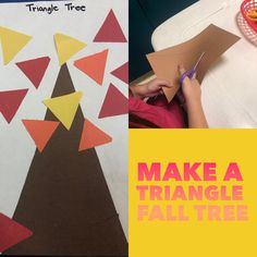 Cutting practice and gluing triangles.