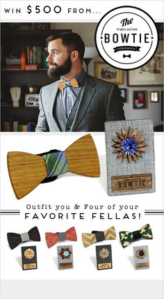 Two Guys Bowties Give Away! Hurry this way to enter! ---> http://www.weddingchicks.com/2014/05/21/two-guys-bow-ties-500-giveaway/
