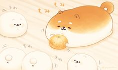 Kawaii Chibi, Cute Chibi, Kawaii Anime, Kawaii Wallpaper, Cute Wallpaper Backgrounds, Dog Bread, Chibi Food, Dog Bakery, Japanese Dogs