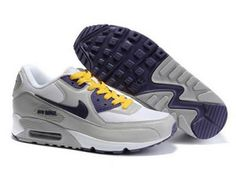 brand new 2a8e7 7195b Cheap Women Nike Air Max 90 Grey White Purple Shoes 5391548 for running