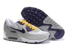 brand new 02baa aebf5 Cheap Women Nike Air Max 90 Grey White Purple Shoes 5391548 for running
